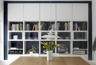 Storage wall - ikea besta alternative to custom.. Or, ikea algot storage, with custom doors?