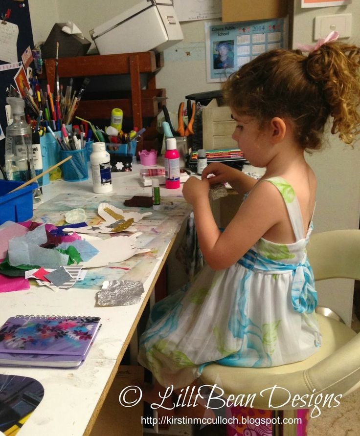 Creating with Kids Simple butterfly art LISTENING TO THE SQUEAK INSIDE art by Kirstin McCulloch of LilliBean Designs