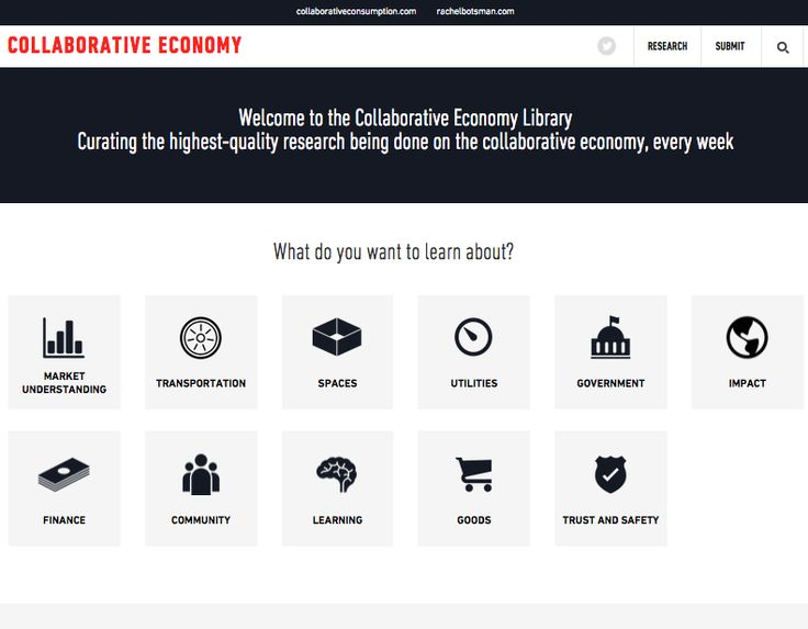 A curated library of high-quality research reports on the collaborative economy. http://collaborativeeconomy.com/