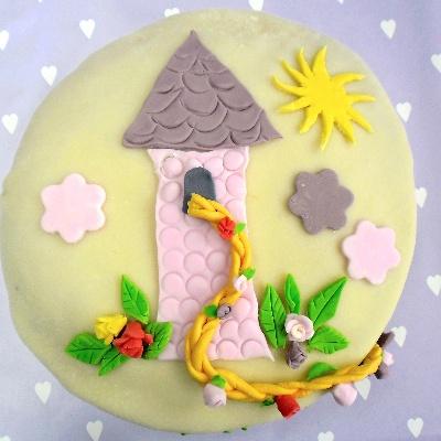 Thema-feestje Prinsessen, Disney prinses Rapunzel verjaardagstaart, Birthday cake Disney princes Rapunzel (tangled)
