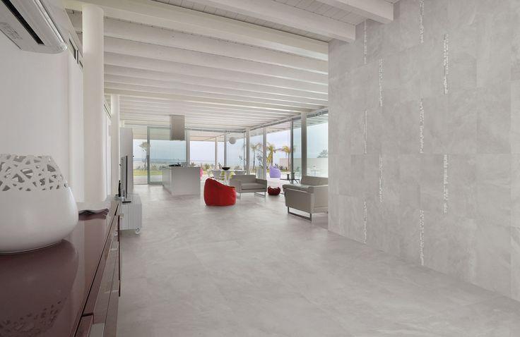 Deze serie heeft  een geheel eigentijdse uitstraling met prachtige betonvegen. Formaten: 80x80, 40x80, 60x60, 30x60, 30x30 (17-IN-01) Tegelhuys