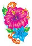 Hibiscus Glitter Tattoo