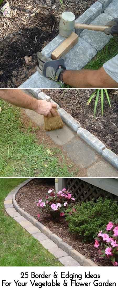 25 Border & Edging Ideas For Your Vegetable & Flower Garden
