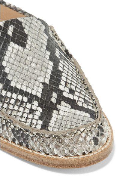 Gabriela Hearst - Kate Python Slippers - Snake print - IT39.5