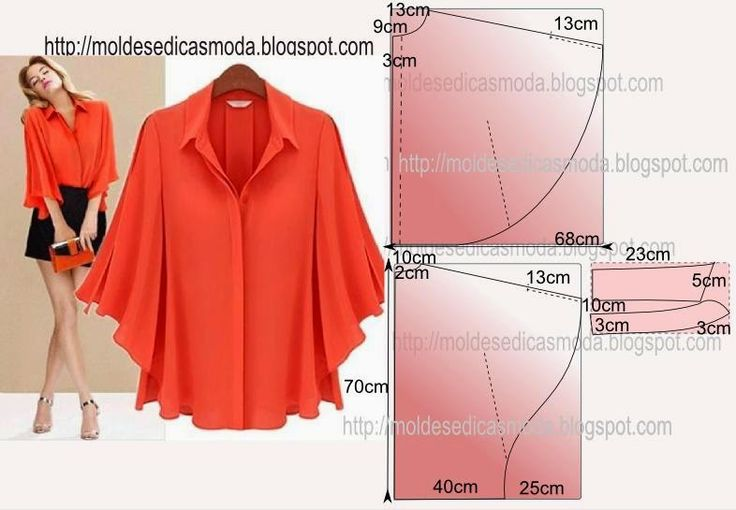 Free instructions: Moldes Moda por Medida: BLOUSE EASY TO DO - 34