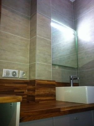 12 best Salles de bains images on Pinterest Bathrooms, Plumbing - traitement humidite mur exterieur