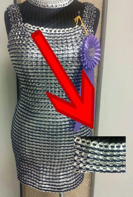 Repurpose Soda Tab Metallic Dress