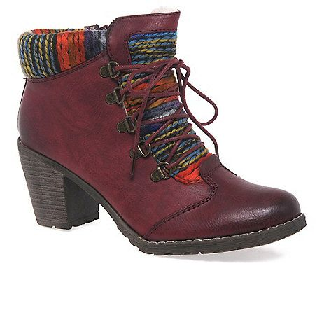 The Rieker Caledonia ladies ankle boots are a warm and wooly pair for winter wear.