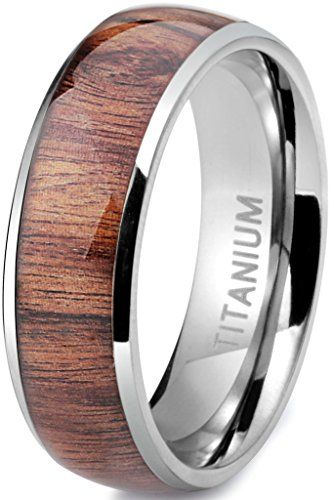 Jstyle Titanium Engagement Rings for Men Vintage Wedding Band 8mm
