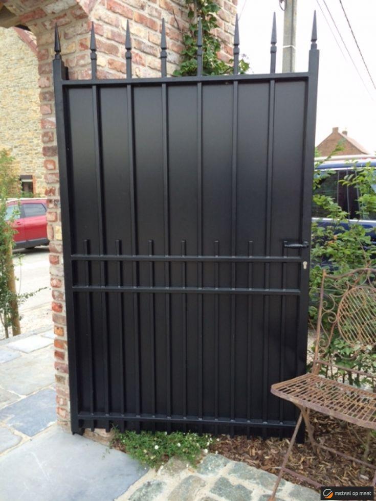 25 beste idee n over metalen poorten op pinterest - Tuin oprit plaat ...