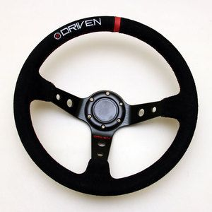 Ultra-Lightweight Steel Steering Wheel wrapped in suede. The perfect fit for a legend race car, drift car build, etc! $160