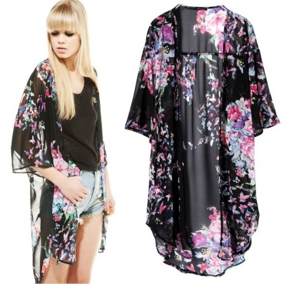 2016 New Vintage Retro Women Ethnic floral tassels Loose Kimono Cardigan Jacket Coat
