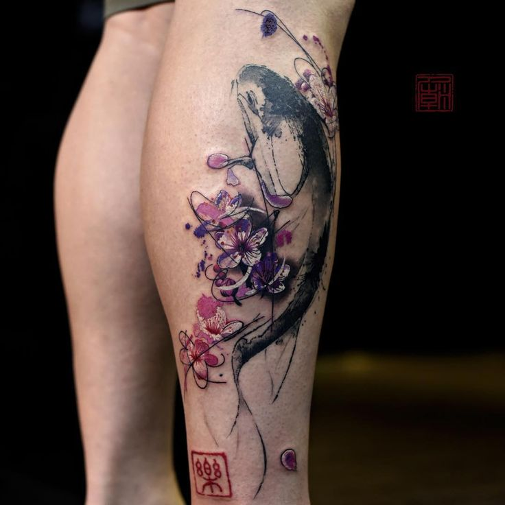 Modern Ink Brush - www.tattootemple.hk / #tattoos #tattootemple #tattoolife #HongKong #abstract #art #tattoo #tattooartist #thetattootemple #tattootemplehk #tattooing #tattooartist #tattoo #tattoos #tattooed #inked #bodyart #bodyarttattoo #tattoomagazine #bme #koi #painting