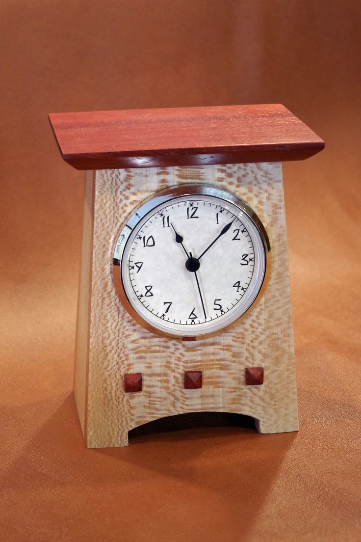 422 best clocks images on pinterest wooden clock crafts and clock made from quarter sawn sycamore and padauk amipublicfo Image collections