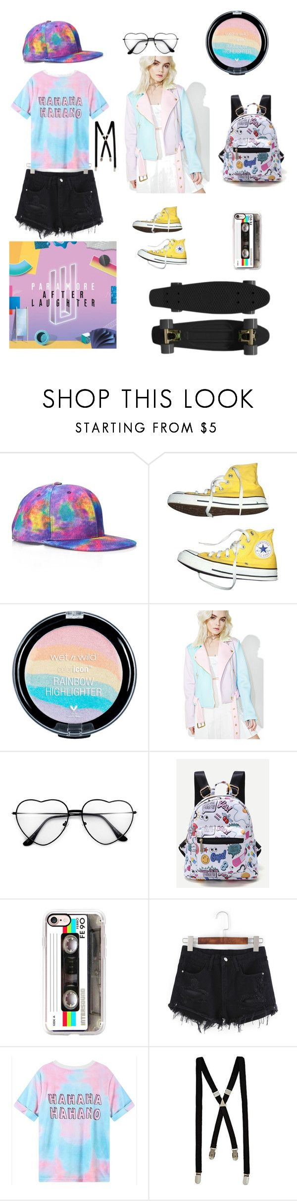 """After Laughter - Paramore"" by mylifeinsilentwonderland ❤ liked on Polyvore featuring 21 Men, Converse, Sugarpills, Casetify, River Island and Retrò"