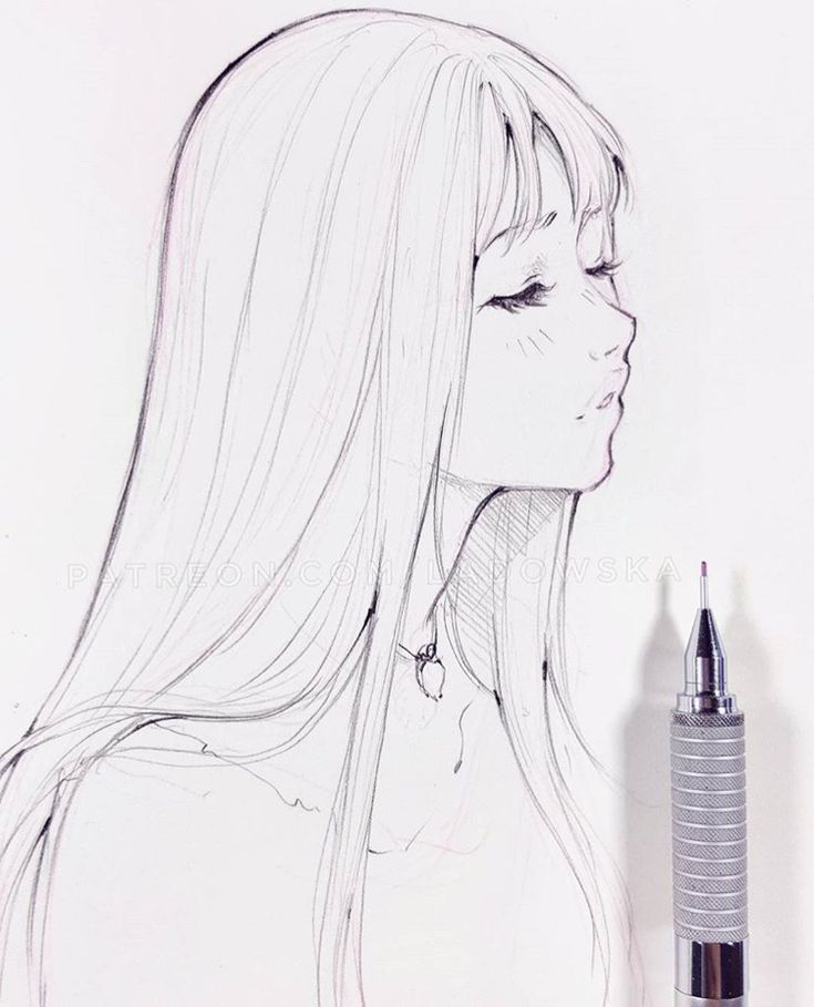 Hair Flow Art Drawing Inspiration Illustration Artsy Sketch Illustration Art Girl Drawing Sketches Sketches