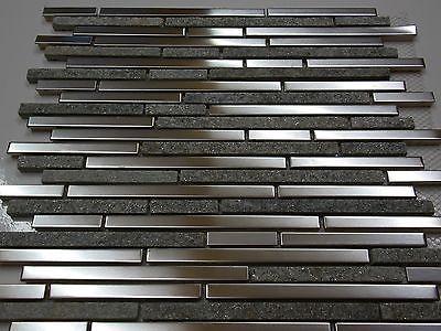 granit naturstein edelstahl fliese mosaik bad dusche küche sauna silber grau