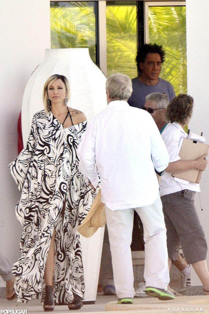 Cameron Diaz filmed scenes Javier Bardem Spain | Cameron Diaz Heats Up the Counselor Set in Spain With Javier Bardem | POPSUGAR Celebrity Photo 2