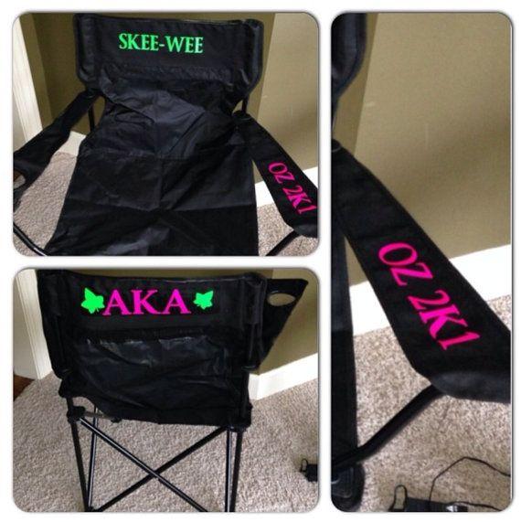 Custom AKA stadium chair. Make a statement when by Glitzyglamwear