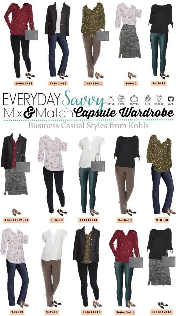 Kohls Business Casual Attire For Women Capsule Wardrobe Spring