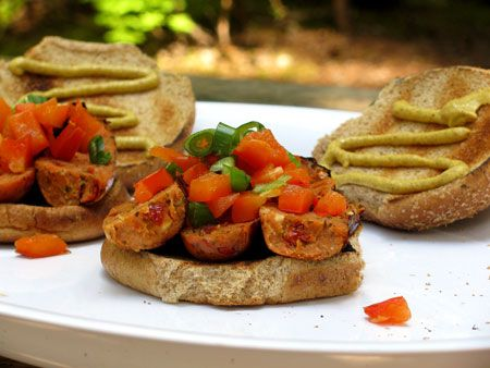 Sausage and Roasted Red Pepper Sandwiches