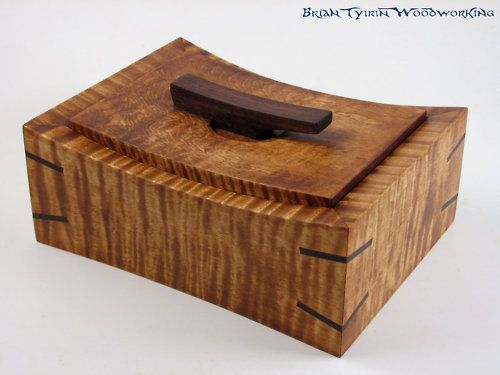 wooden recipe box with wooden dividers.  Brian Tyirin
