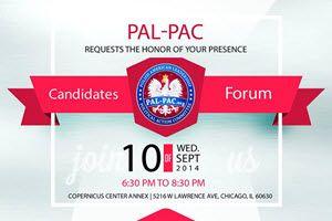 Candidates Forum Sept 10 - - at Copernicus Center   Chicago