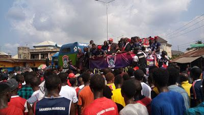 See the attire FC Ifeanyi Ubah players wore for their Trophy Parade as Governor Obiano commends club Owner (PHOTOS)  See the attire FC Ifeanyi Ubah players wore for their Trophy Parade as Governor Obiano commends club Owner (PHOTOS)  After their Nigeria Federation Cup triumph over Nasarawa United in Teslim Balogun Stadium in Lagos which saw them book a continental ticket next season players and coach crew members of FC Ifeanyi Ubah took to the streets of Anambra for their Trophy parade…