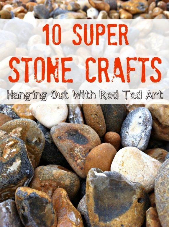 Stone Craft Ideas from Red Ted Art and many more of your favorite kid bloggers!