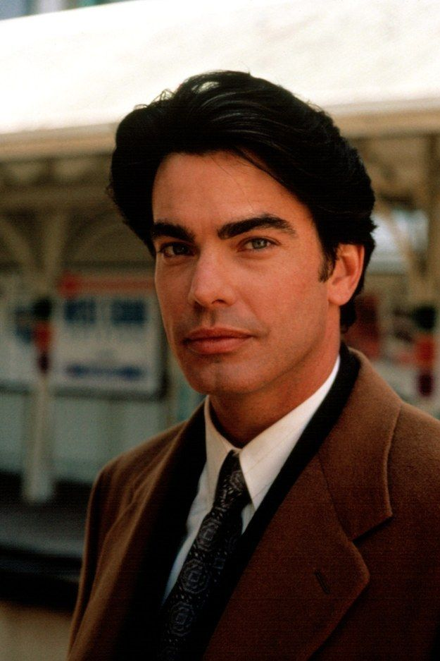 """Also because of actor Peter Gallagher's amazing eyebrows. 