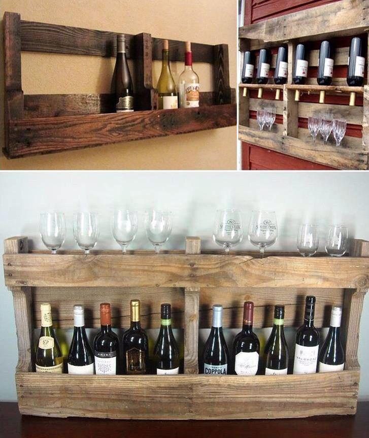 Vin st ll bar av eu pall kul id diy pinterest for Pallet wine bar