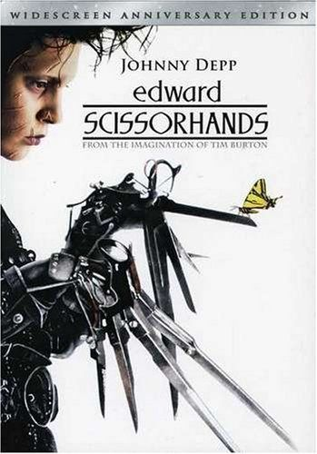 Edward Scissorhands -- An uncommonly gentle young man, who happens to have scissors for hands, falls in love with a beautiful teenage girl. (1990) Nominated: Best Makeup  Ve Neill  Stan Winston.