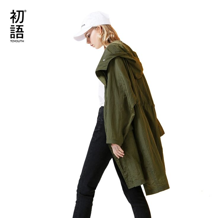 44.5$  Watch now - Toyouth Trench Coats 2017 Autumn Women Casual Loose Solid Color Batwing Sleeve Hooded Long Coats Outwears   #magazineonlinebeautiful