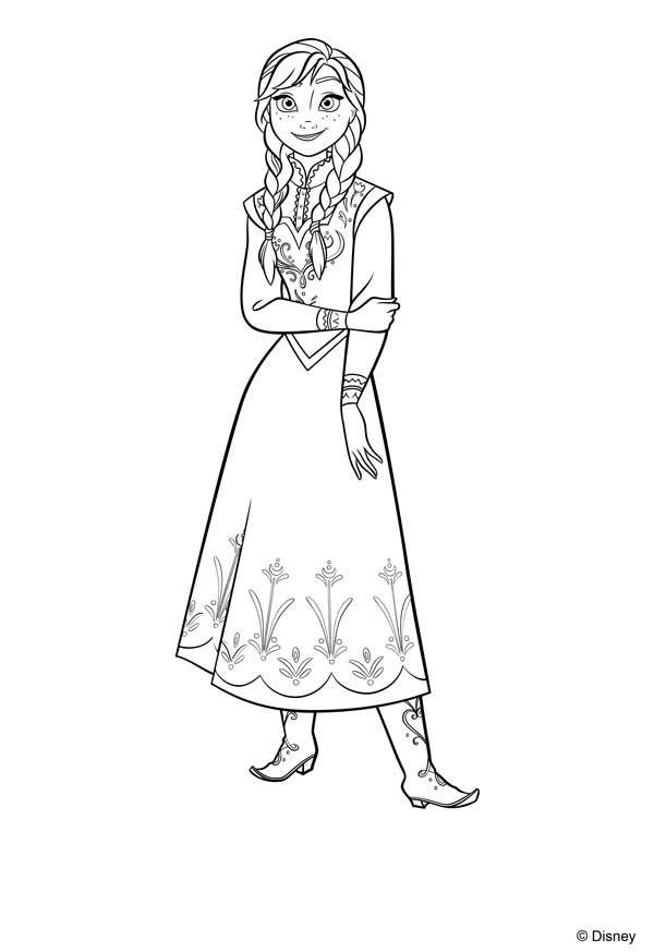 Dibujos Para Colorear De Las Princesas Disney Frozen Para