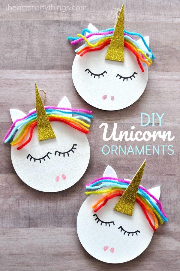 Methods to Make a Unicorn Christmas Decoration