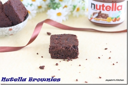 NUTELLA BROWNIES RECIPE | NO EGG NO BUTTER