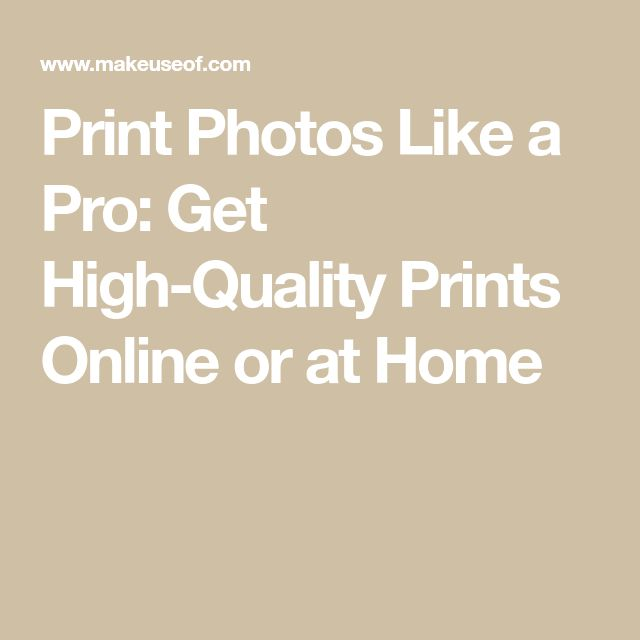 Print Photos Like a Pro: Get High-Quality Prints Online or at Home