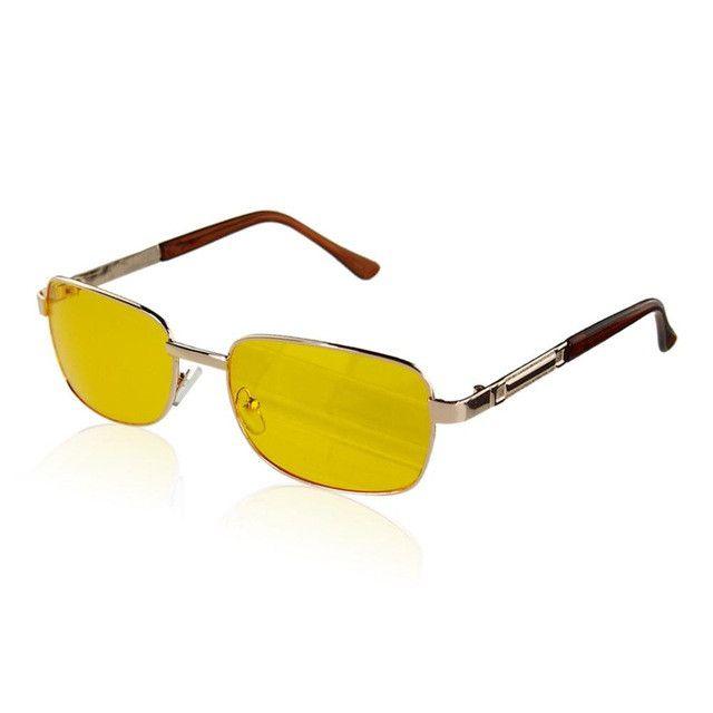 2016 fashion goggle UV Sunglasses Night Vision Driving Glasses Yellow lens metal + Resin UV400 eyeglasses