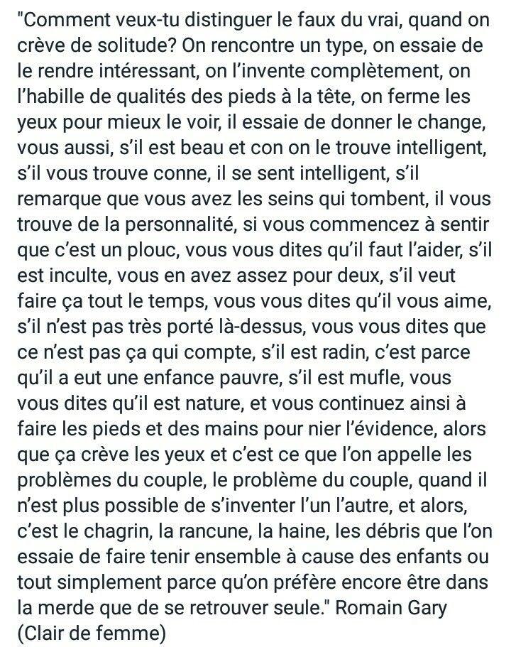 Romain Gary, Clair de femme.