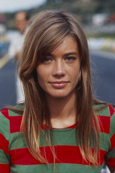 "Francoise Hardy on set in the 1966 movie ""Grand Prix"", Photo by Francois Gragnon/Paris Match via Getty Images."