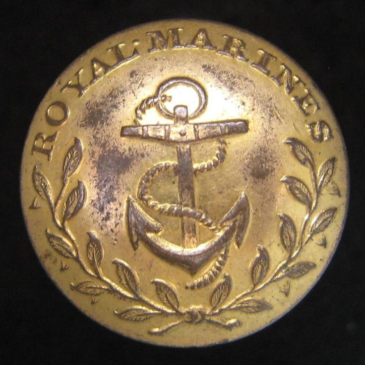 Rare Royal Marines Officers Gilt Button circa 1818