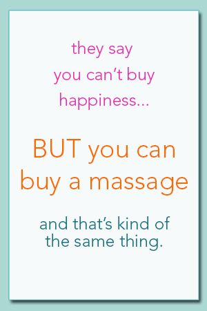 Massage=happiness