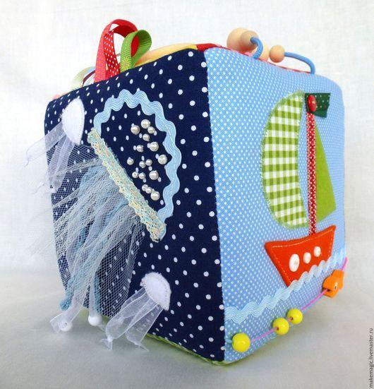 Развивающие игрушки ручной работы. Ярмарка Мастеров - ручная работа. Купить Куб развивающий дидактический. Handmade. Комбинированный, луна, для малыша