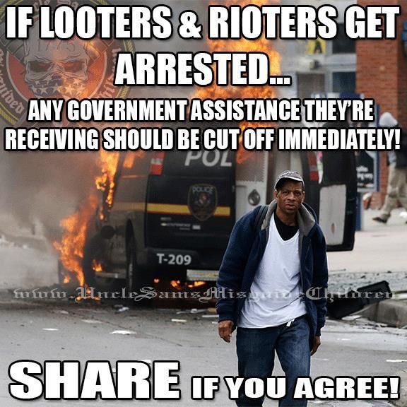 Should NOT be limited to just looters & rioters!!