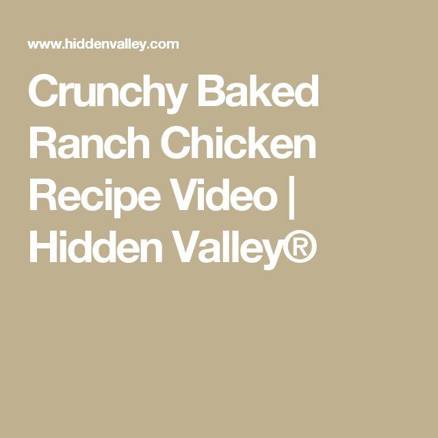 Crunchy Baked Ranch Chicken Recipe Video | Hidden Valley®