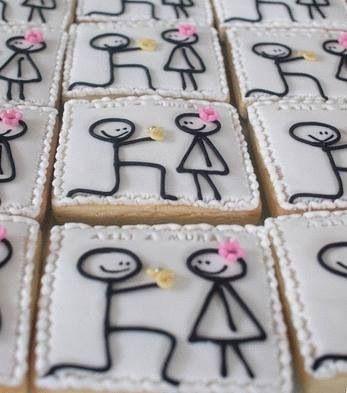 Süße Cookies... möglich als Save the date... Gästegeschenk.... Verlobungsanzeige... je nach Verpackung und Etikettierung!