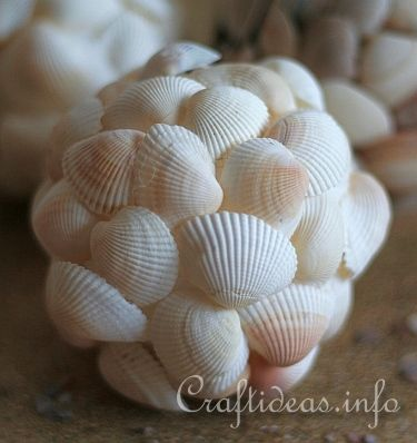 Maritime Craft - Seashell Balls 2.  If you don't have a collection of shells for this project try the Dollar Tree...