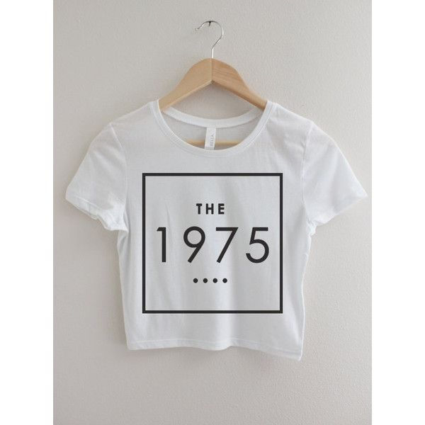 The 1975 Band Crop Top T-shirt Hipster Tee Tshirt Logo Matt Healy... ($19) ❤ liked on Polyvore featuring tops, t-shirts, logo tees, cotton crop top, black and white crop top, black white t shirt and logo t shirts