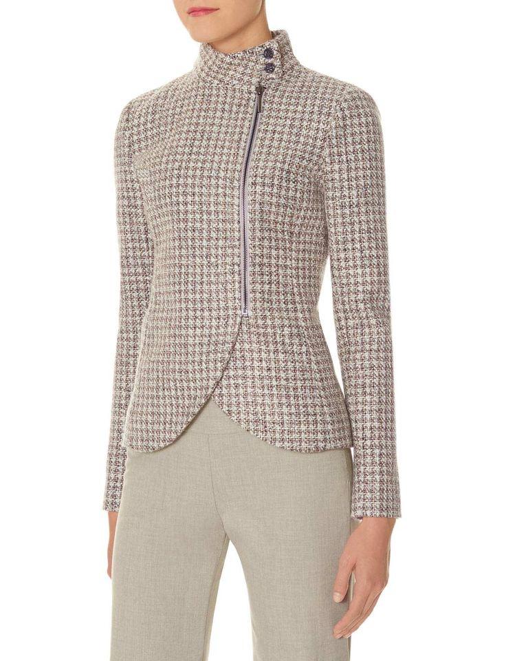 Funnel Neck Tweed Jacket #TheLimited #ScandalStyleTheLimited #OliviaPope #Polished #Texture #FallFashion #ItsHandled #W2W #WearToWork