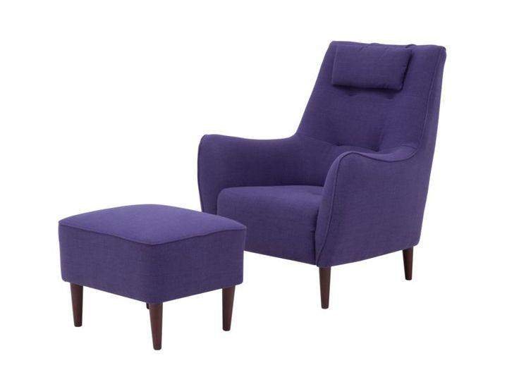 Fotel SERENA z hockerem